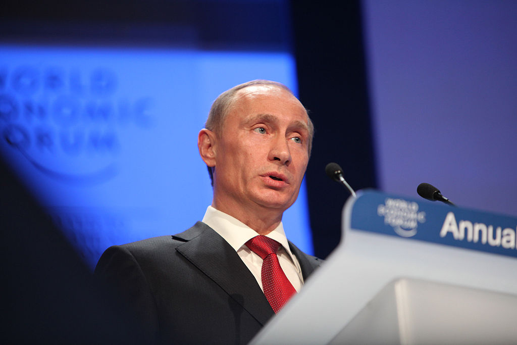 Vladimir Putin at the World Economic Forum Annual Meeting, 2009. Wikimedia Commons/Creative Commons/World Economic Forum
