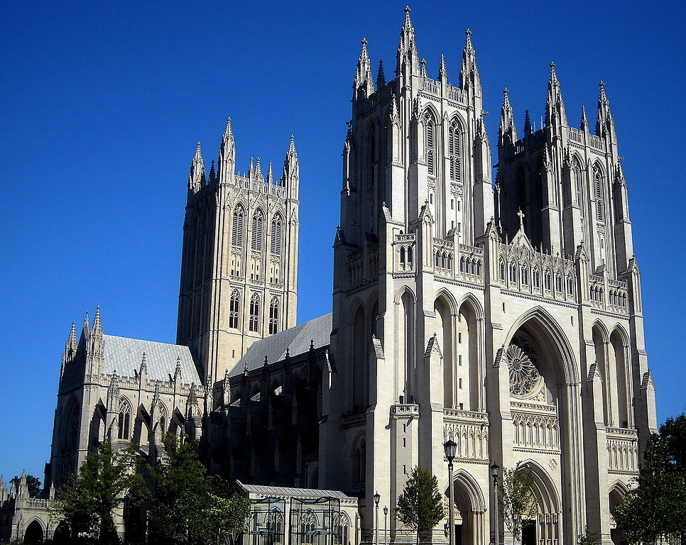 Washington National Cathedral. Wikimedia Commons/Creative Commons/@AgnosticPreachersKid
