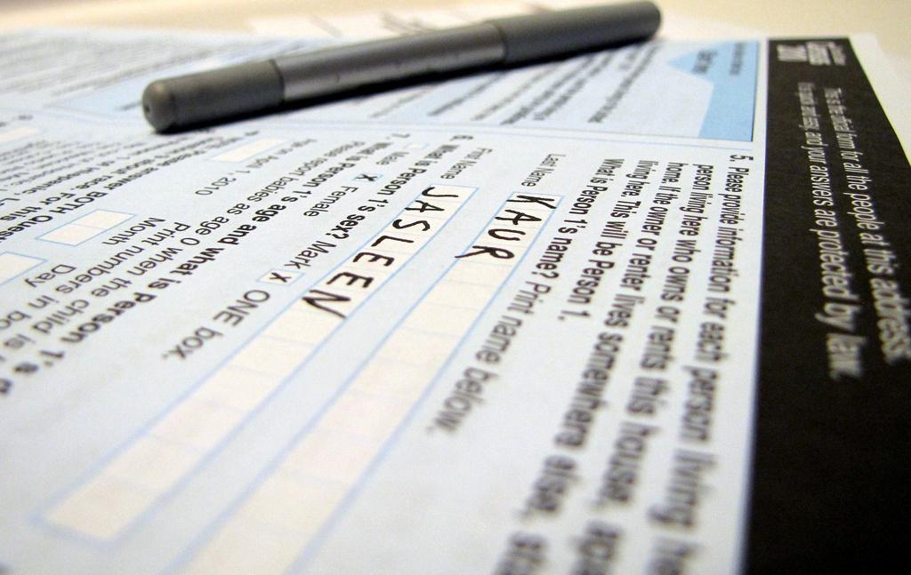 U.S. Census form. Flickr/Creative Commons/Jasleen Kaur