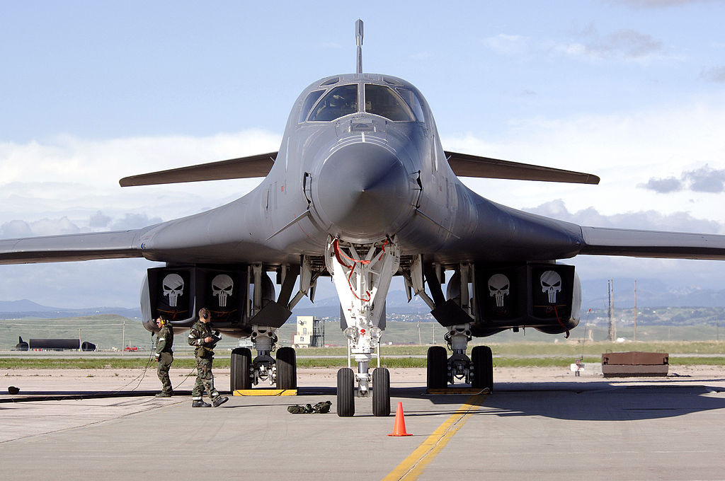 A B-1 Lancer awaits a pre-flight inspection. Wikimedia Commons/U.S. Air Force