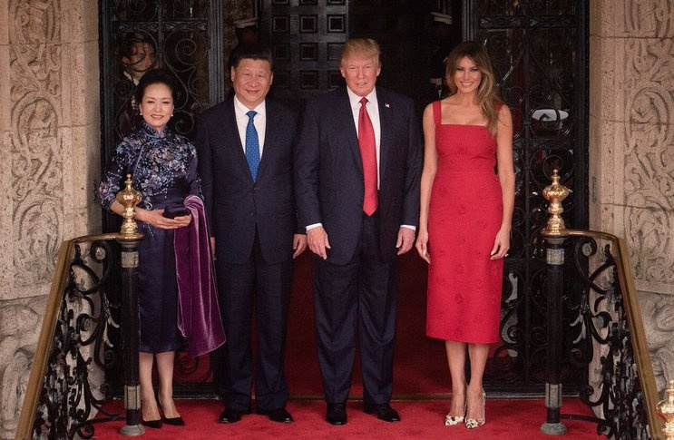 Donald and Melania Trump with Xi Jinping and Peng Liyuan. Wikimedia Commons/The White House