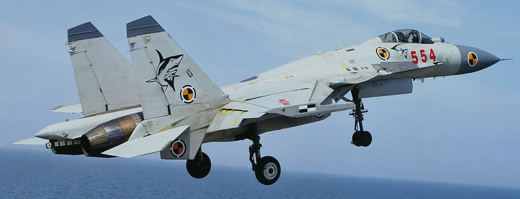 Chinese Shenyang J-15 fighter. Wikimedia Commons/Creative Commons/@Garudtejas7
