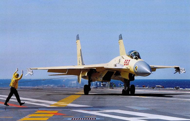 China's J-15 jet fighter prototype. Wikimedia Commons/Simon Yang