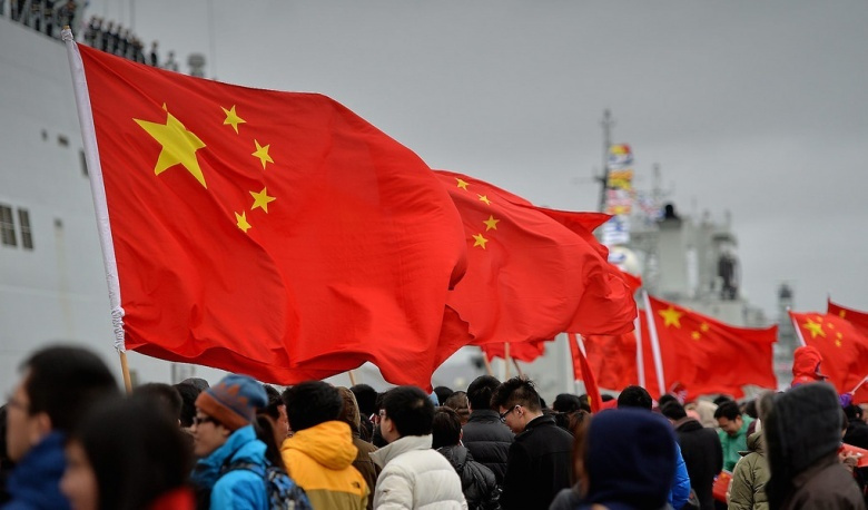 Three Chinese warships arriving in Portsmouth, UK. Flickr/Defence Images, © Crown copyright 2013