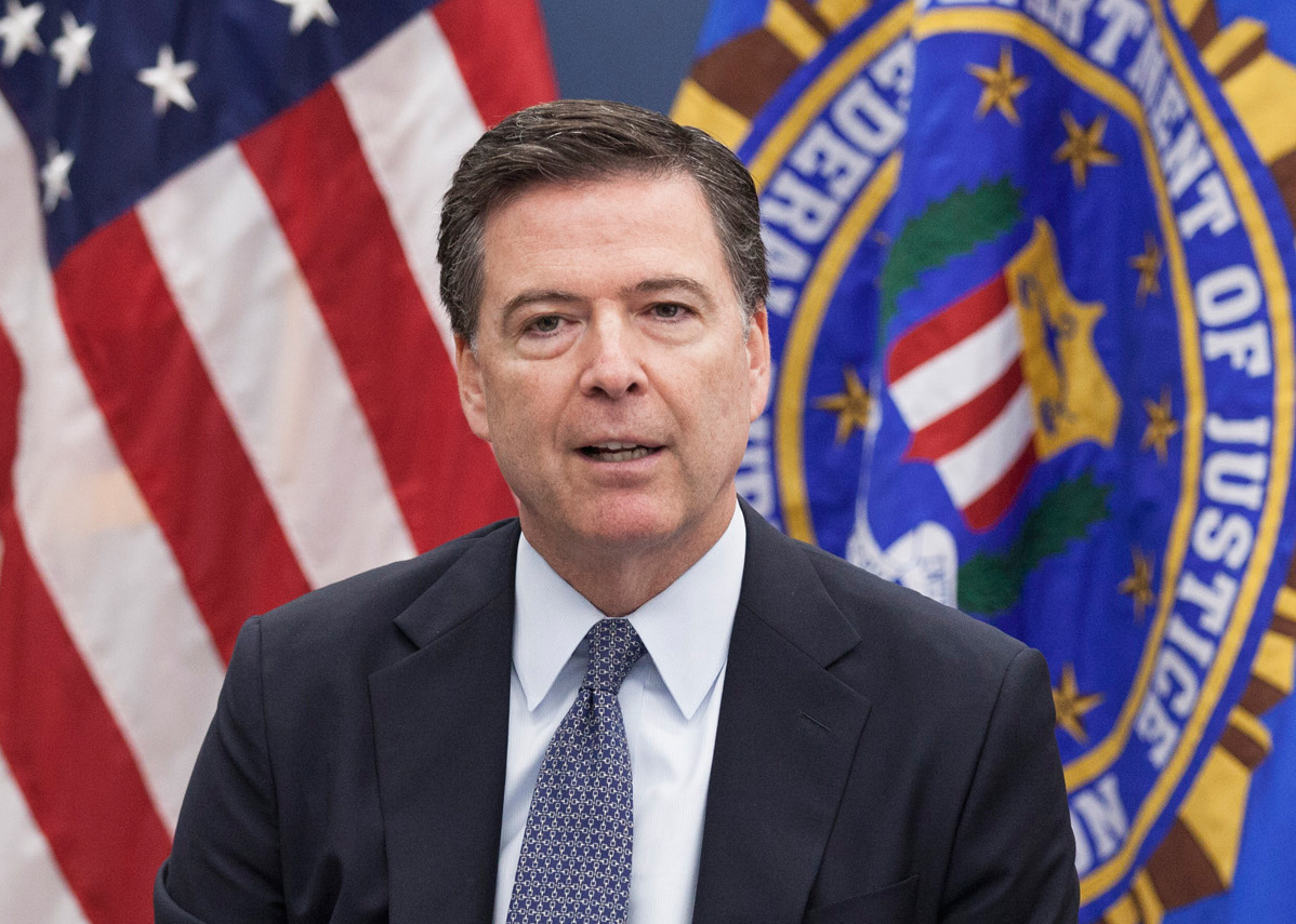 FBI Director James Comey during a press briefing regarding the shooting at a nightclub in Orlando. Wikimedia Commons/Public domain