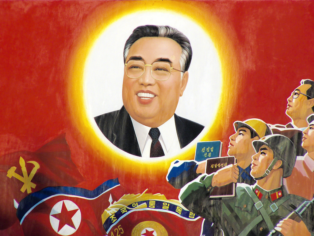 Painting of Kim Il-sung in Wonsan, North Korea. Flickr/Creative Commons/@yeowatzup