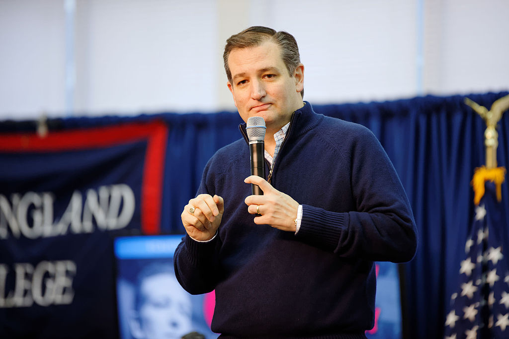 Sen. Ted Cruz at New England College in February 2016. Wikimedia Commons/Creative Commons/Michael Vadon