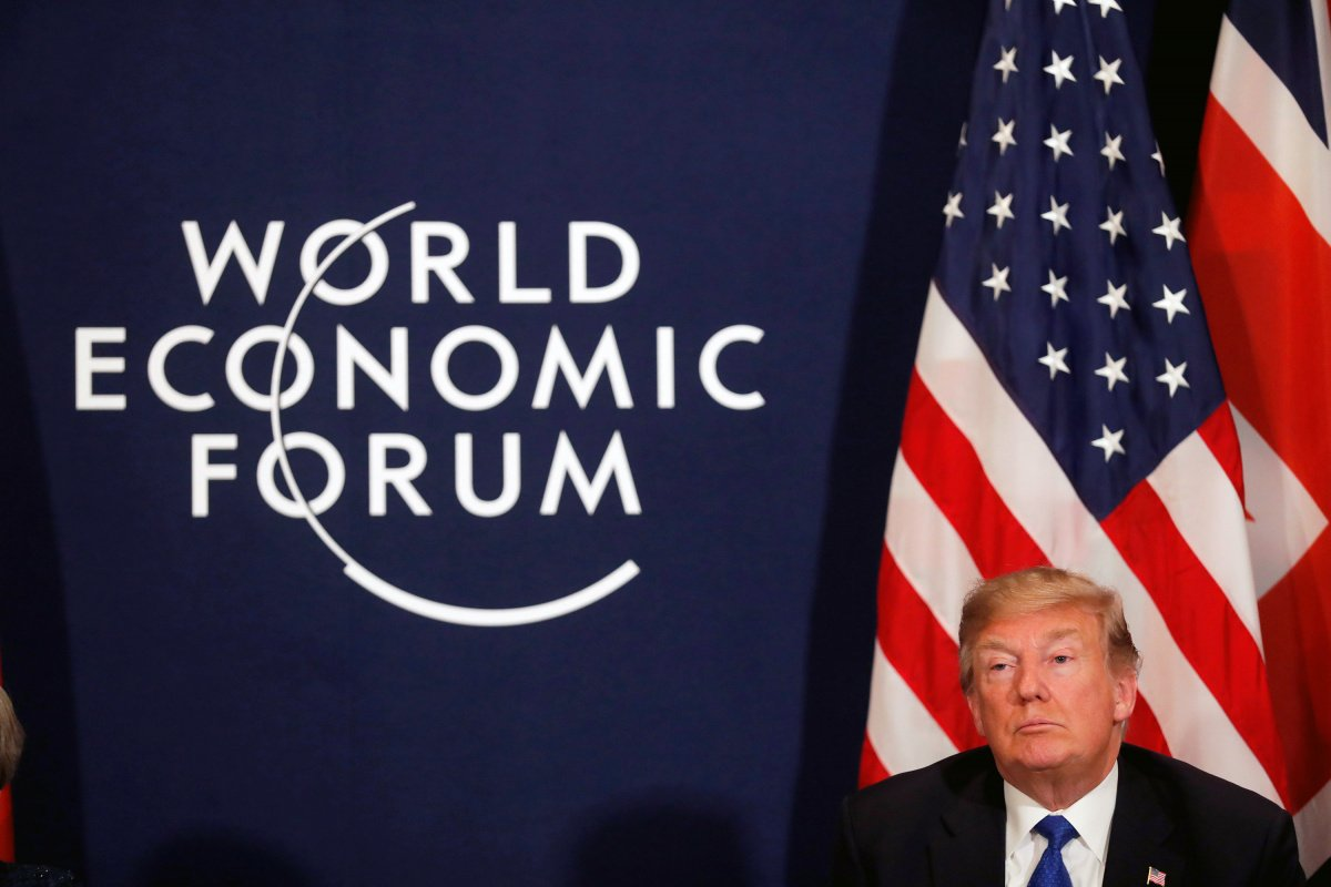 U.S. President Donald Trump attends the World Economic Forum (WEF) annual meeting in Davos