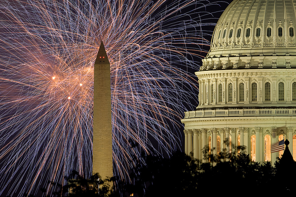 Fourth of July at the U.S. Capitol. Flickr/Architect of the Capitol