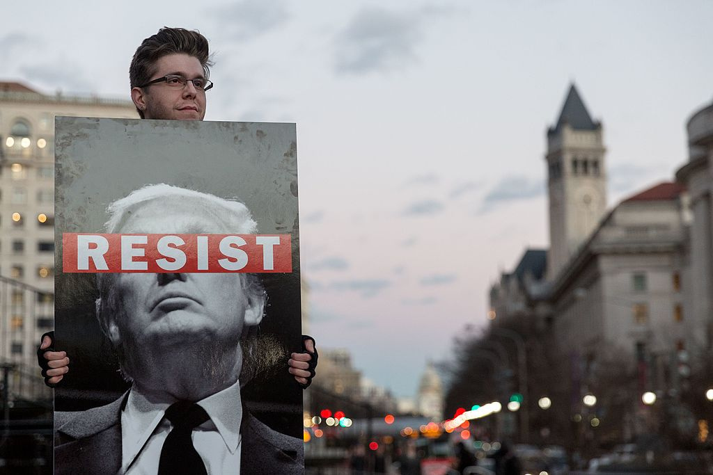 January 2017 protester against Donald Trump. Wikimedia Commons/Creative Commons/Lorie Shaull