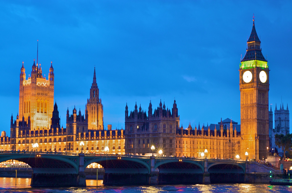 Palace of Westminster at night. Flickr/Creative Commons/@mrdoubtfire
