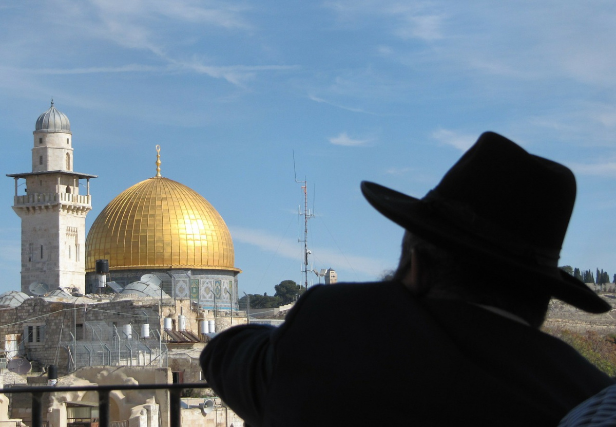 Overlooking the Wailing Wall and Dome of the Rock. Pixabay/Public domain