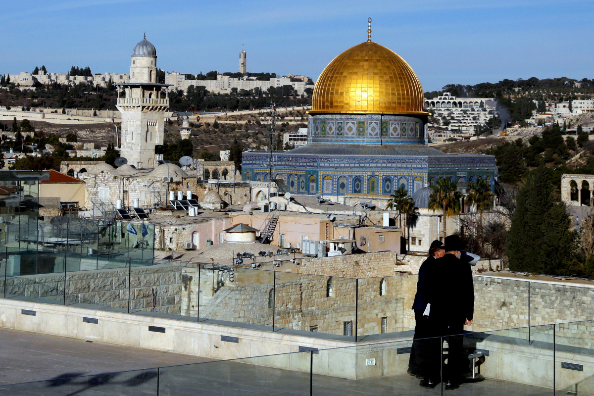 A general view shows the Dome of the Rock and Jerusalem's Old City