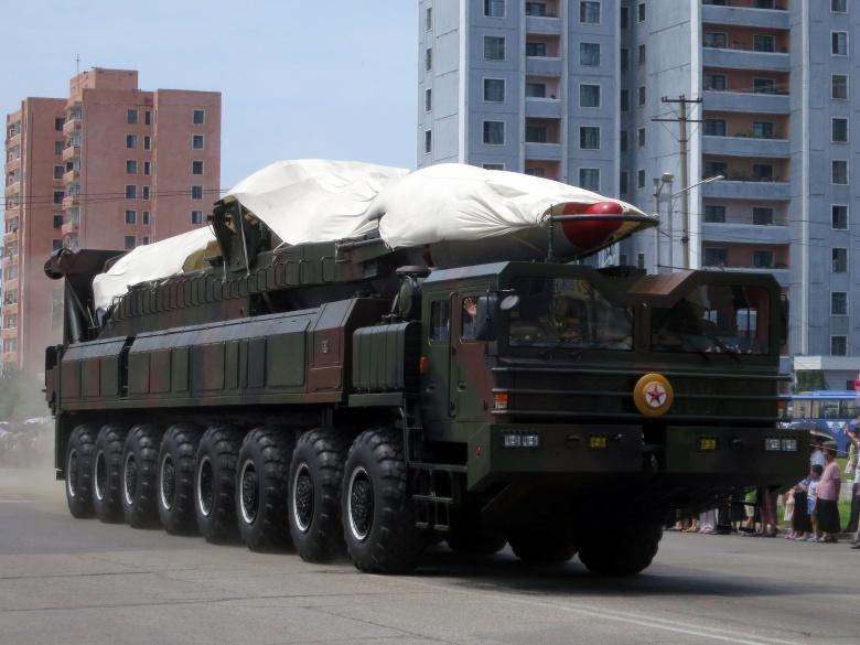 Military parade in Pyongyang, North Korea. Flickr/Stefan Krasowski