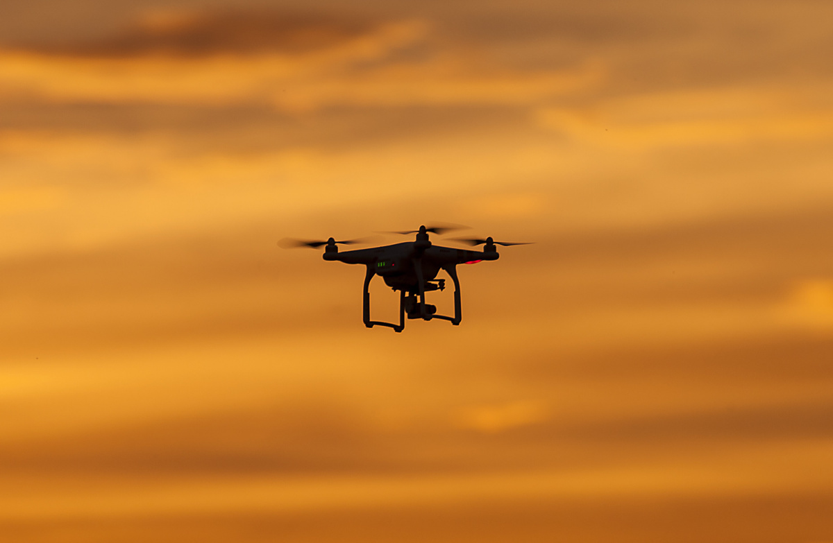 Commercial drone at sunset. Flickr/Creative Commons/Greg Clarke
