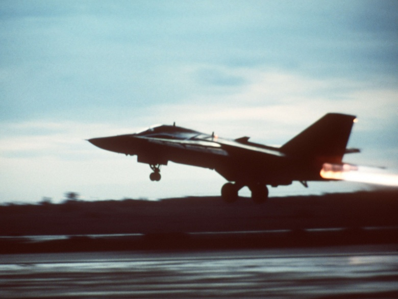 Image: An F-111 takes off from Britain to strike Libya. U.S. Air Force photo. Public domain.