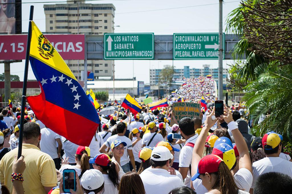 Protests in Maracaibo, Venezuela, in 2014. Wikimedia Commons/Creative Commons/María Alejandra Mora