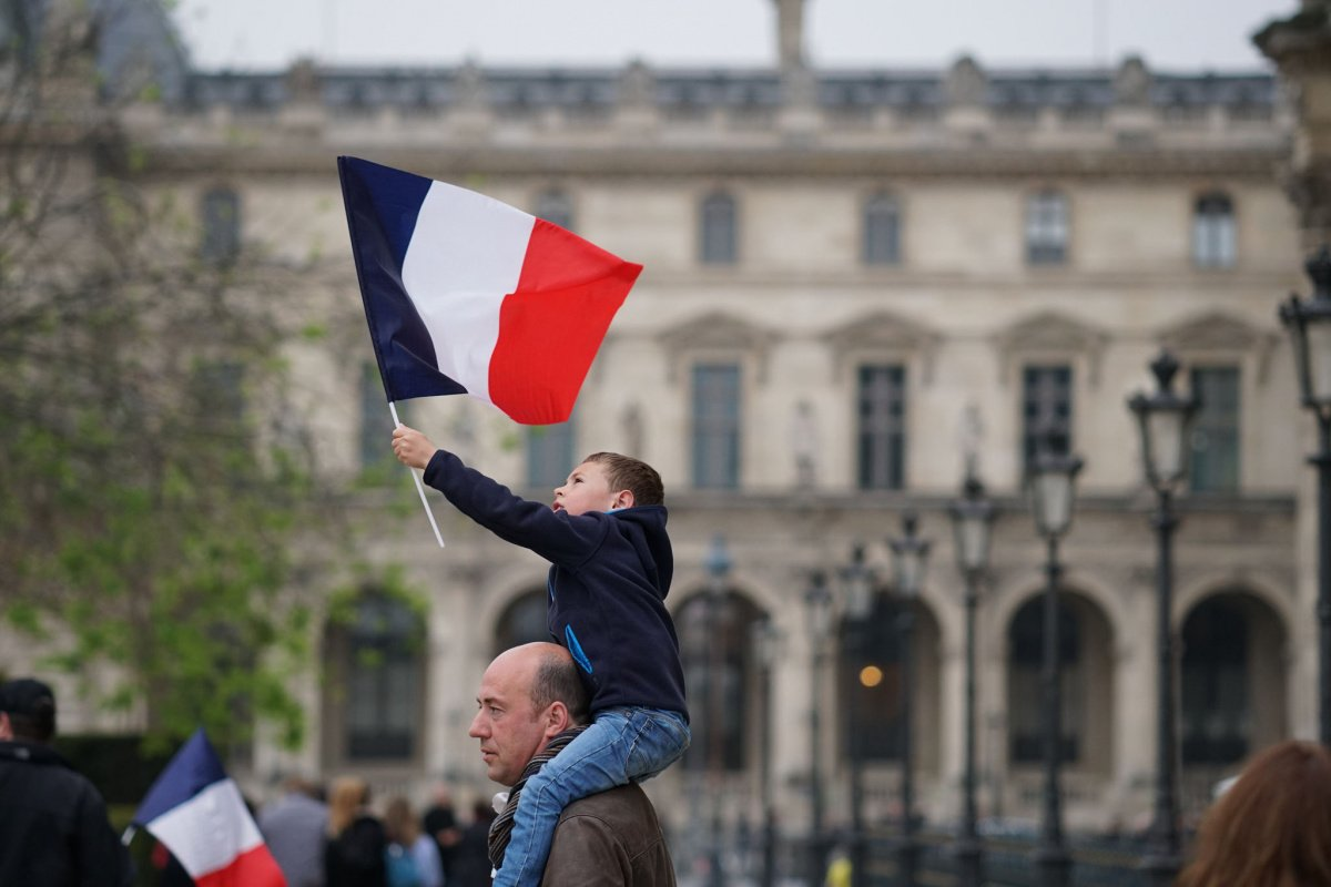 Celebration of Emmanuel Macron's victory at the Louvre. Flickr/Creative Commons/Lorie Shaull