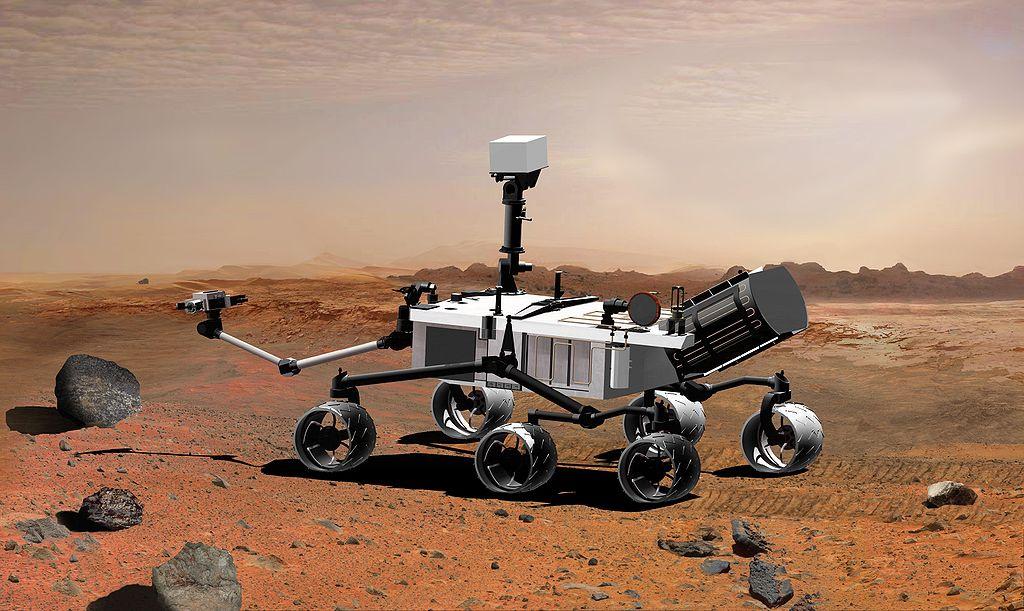 2007 rendering of NASA's Mars Science Laboratory, later named Curiosity. Wikimedia Commons/Public domain
