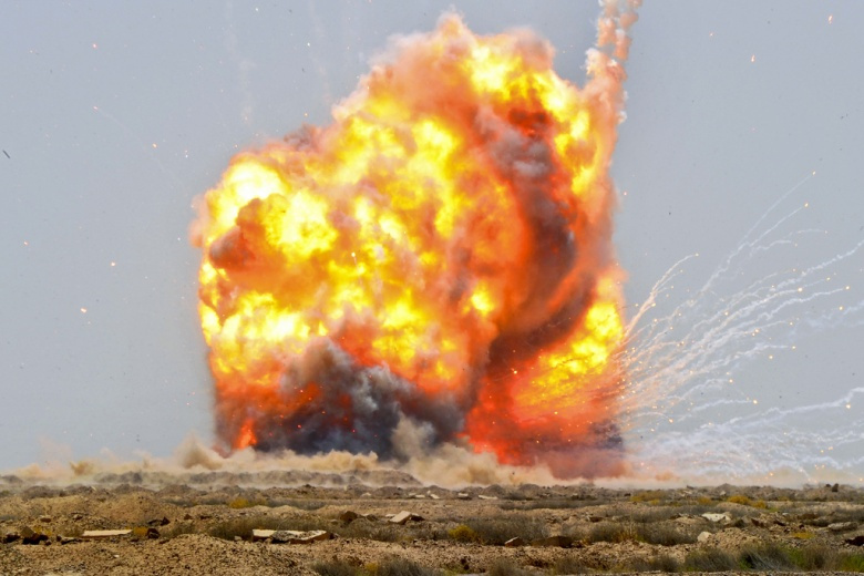 A controlled detonation set off by U.S. soldiers with 725th Explosive Ordnance Disposal Team, 441st EOD Battalion, Task Force Troy. Flickr/U.S. Army