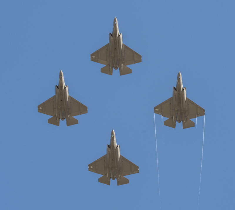 Four F-35C Lightning II joint strike fighters. Flickr/U.S. Navy