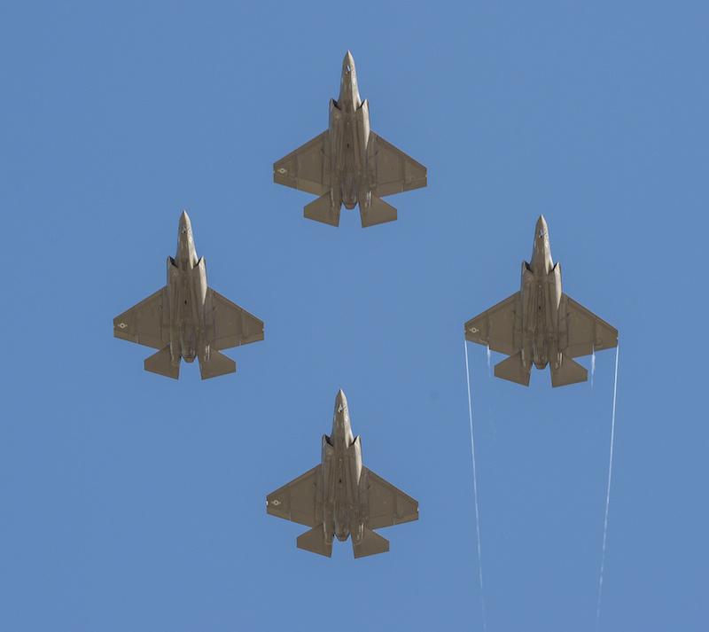 Four F-35C Lightning II joint strike fighters. Flickr/U.S. Navy