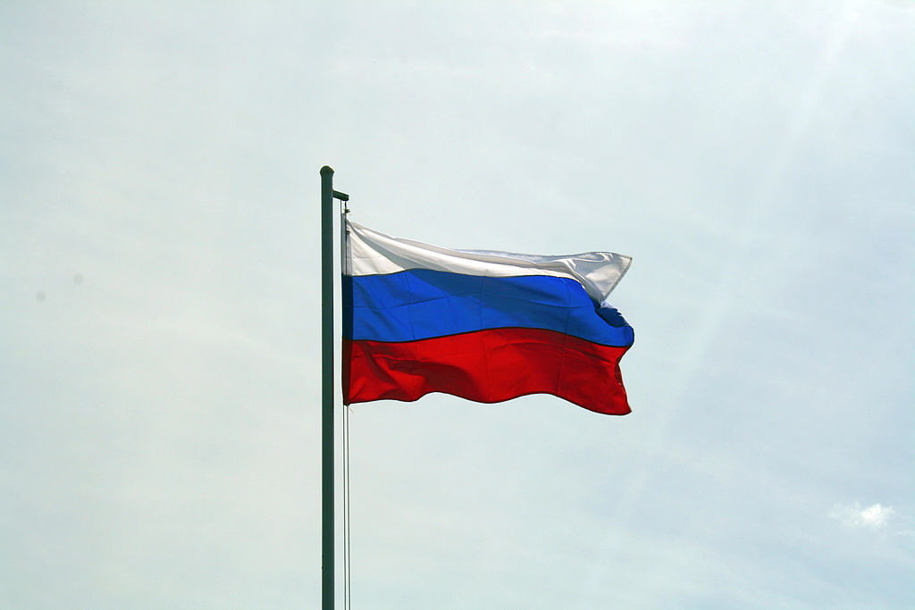 Flag of Russia. Wikimedia Commons/Creative Commons/Vladimir Lobachev