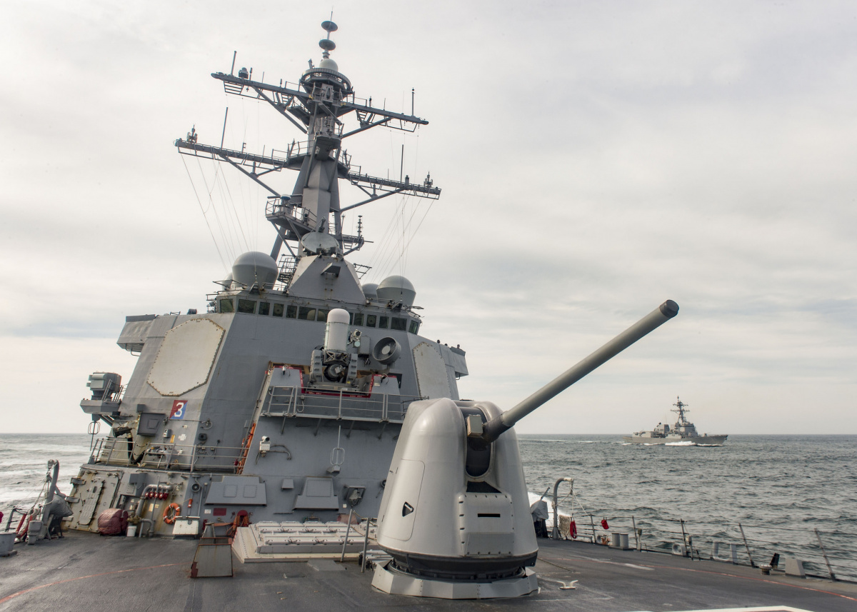 The Arleigh Burke-class guided missile destroyer USS Stout. Flickr/U.S. Navy