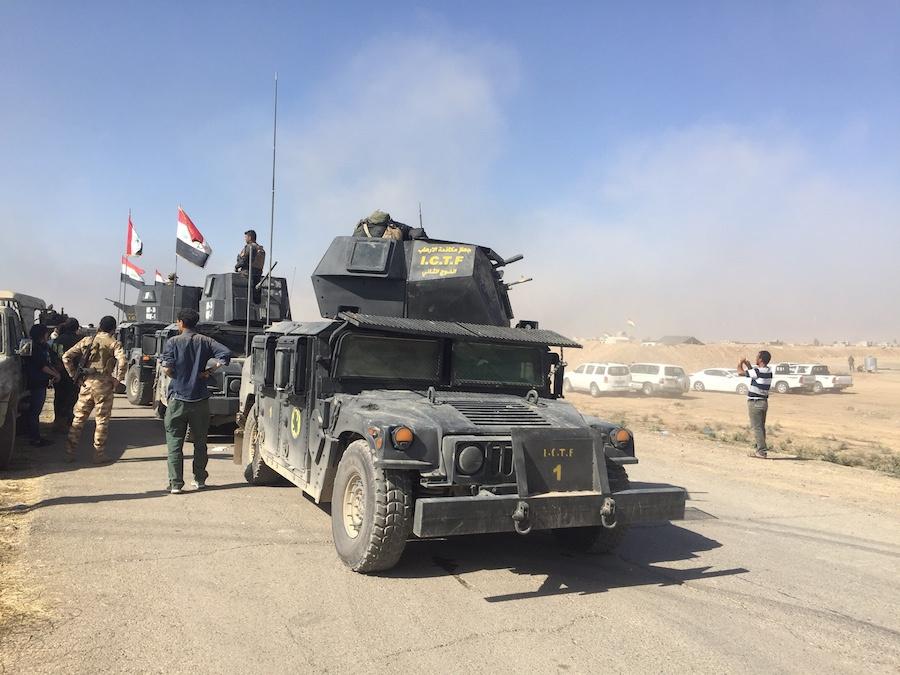 Iraqi special forces near Bartella. Seth J. Frantzman