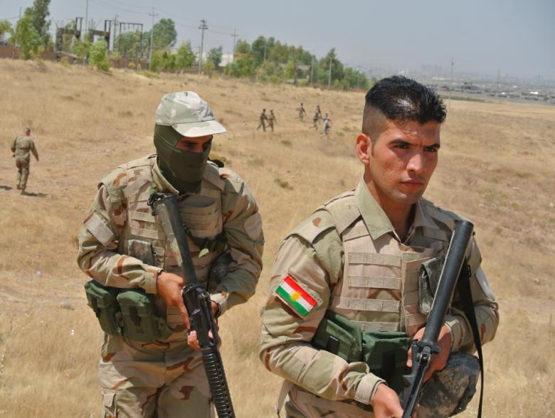 Peshmerga soldiers in training. Seth J. Frantzman