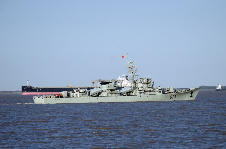 Chinese navy frigate. Flickr/Charles W. Clark