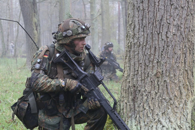 German soldiers conduct assault operations training during exercise Letzlingen Freedom Shock. Wikimedia Commons/7th Army Joint Multinational Training Command