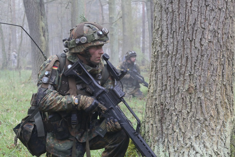 German soldiers during exercise Letzlingen Freedom Shock. Flickr/7th Army Training Command