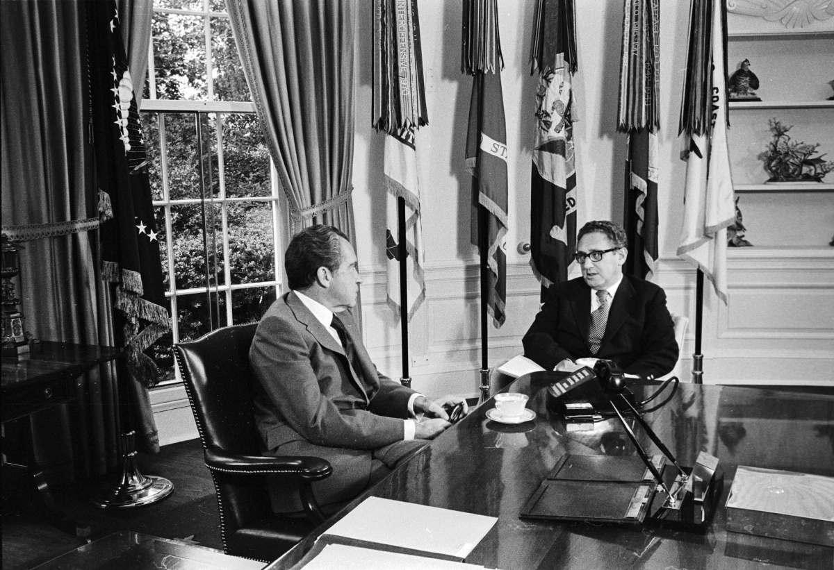 Richard Nixon and Henry Kissinger at the White House, October 1973. Flickr/Central Intelligence Agency