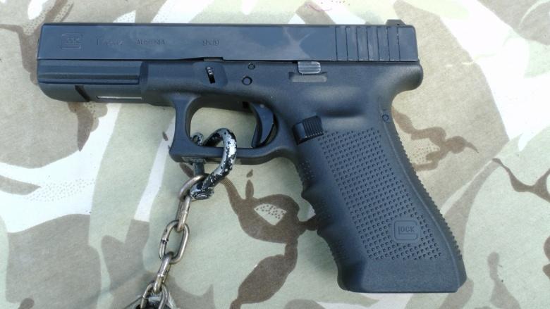Image: A Glock 17 Gen4 pistol. Public domain.