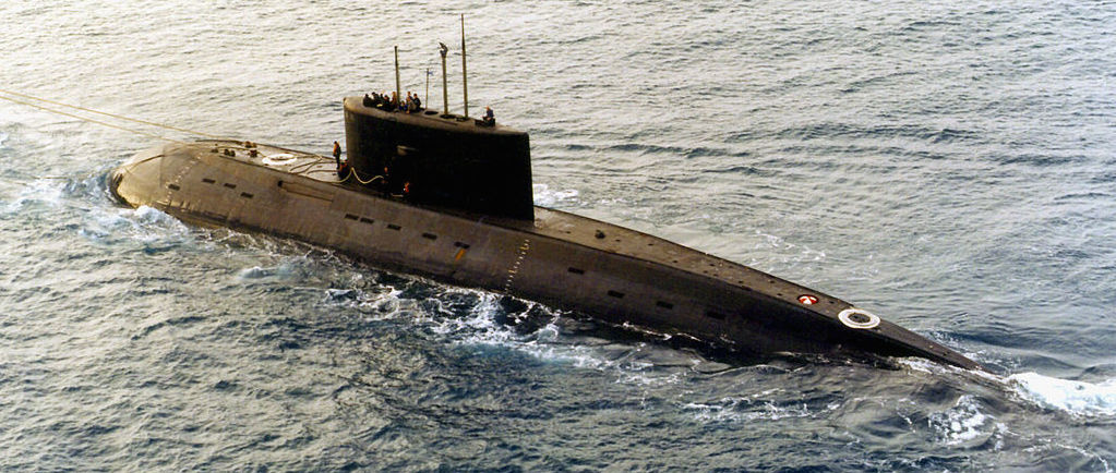 Kilo-class diesel submarine. Wikimedia Commons/U.S. Department of Defense