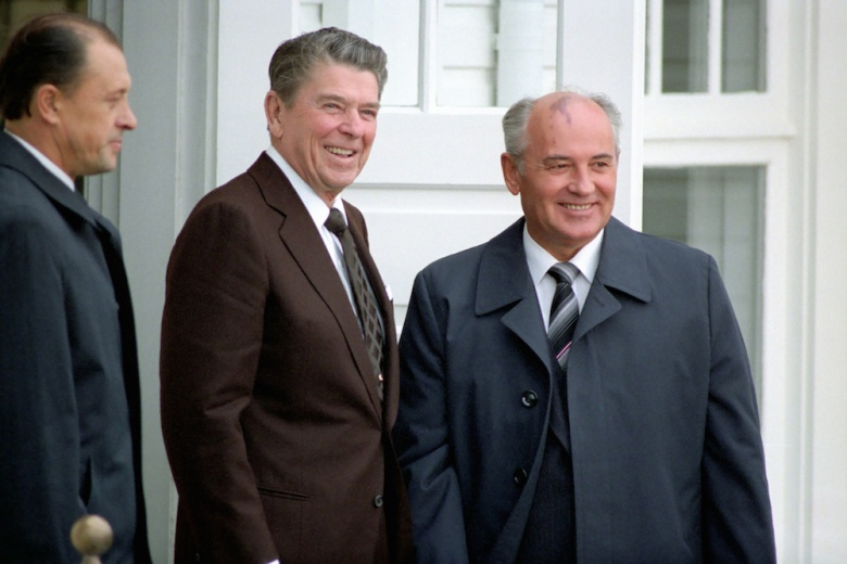 U.S. President Reagan and Soviet General Secretary Gorbachev​. Flickr/CTBTO