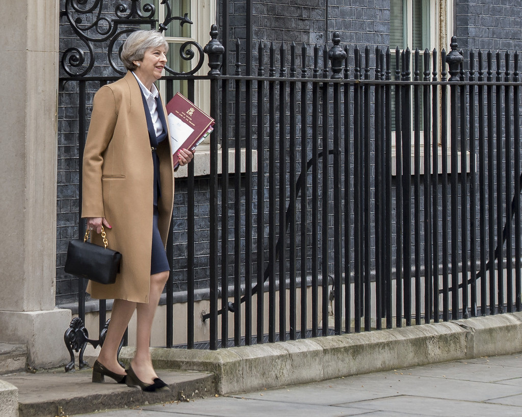 Prime Minister Theresa May leaving 10 Downing Street for the House of Commons on March 29, 2017. Flickr/Number 10. Crown copyright.