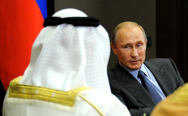 Vladimir Putin with Crown Prince of Abu Dhabi Mohammed bin Zayed Al Nahyan. Kremlin.ru