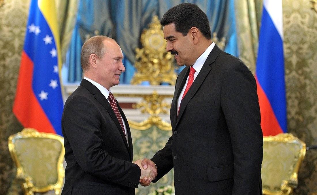 Vladimir Putin with Nicolás Maduro in 2013. Kremlin.ru