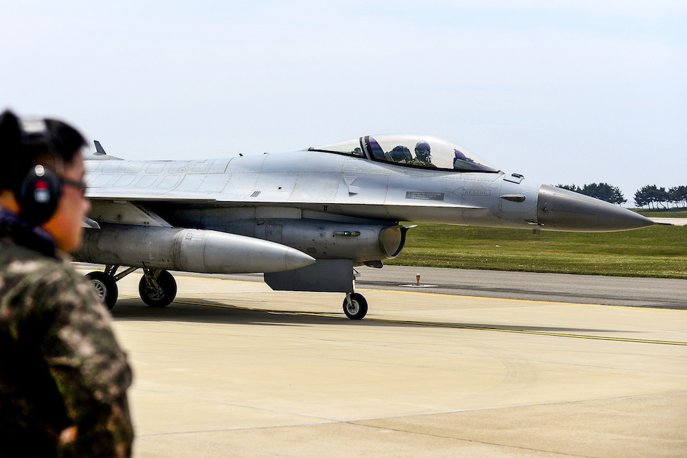 F-16 Fighting Falcon at Kunsan Air Base in South Korea. Defense.gov