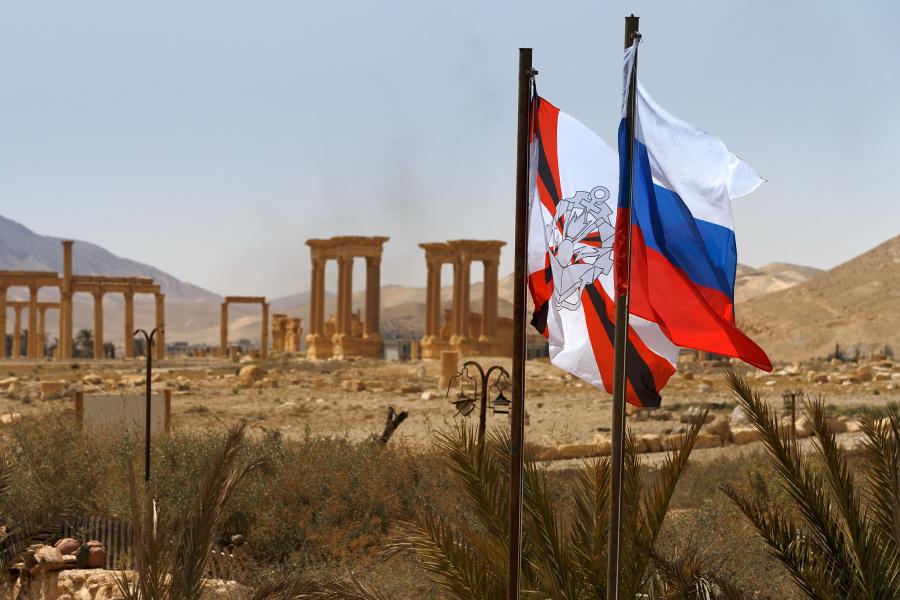 Activity of International Mine Action Center in Palmyra, Syria. Wikimedia Commons/Mil.ru