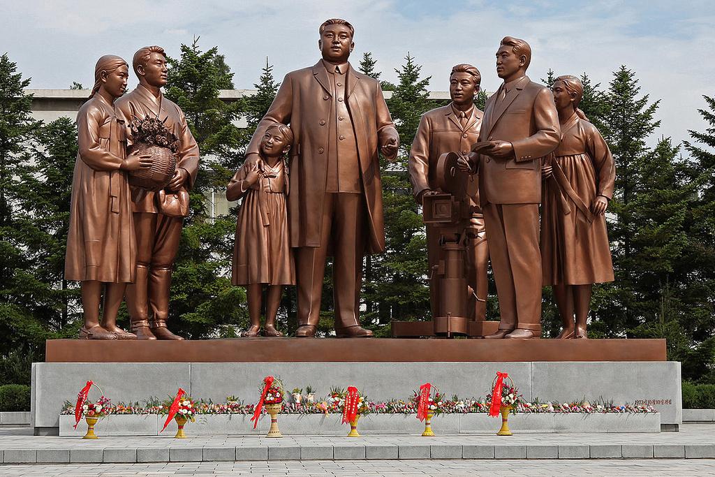 Statue at Pyongyang Film Studios. Flickr/Creative Commons/Roman Harak