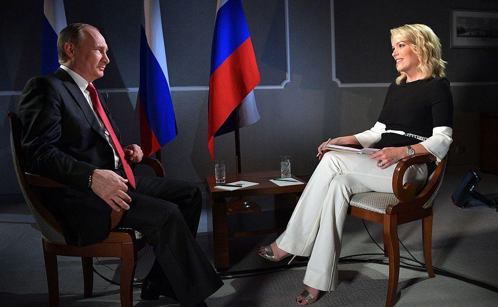 Vladimir Putin with Megyn Kelly. Wikimedia Commons/Kremlin.ru