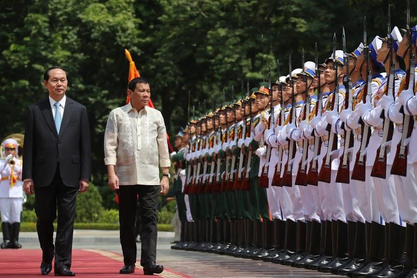 Vietnamese President Trần Đại Quang and Philippine President Rodrigo Duterte. Wikimedia Commons/Presidential Communications Operations Office
