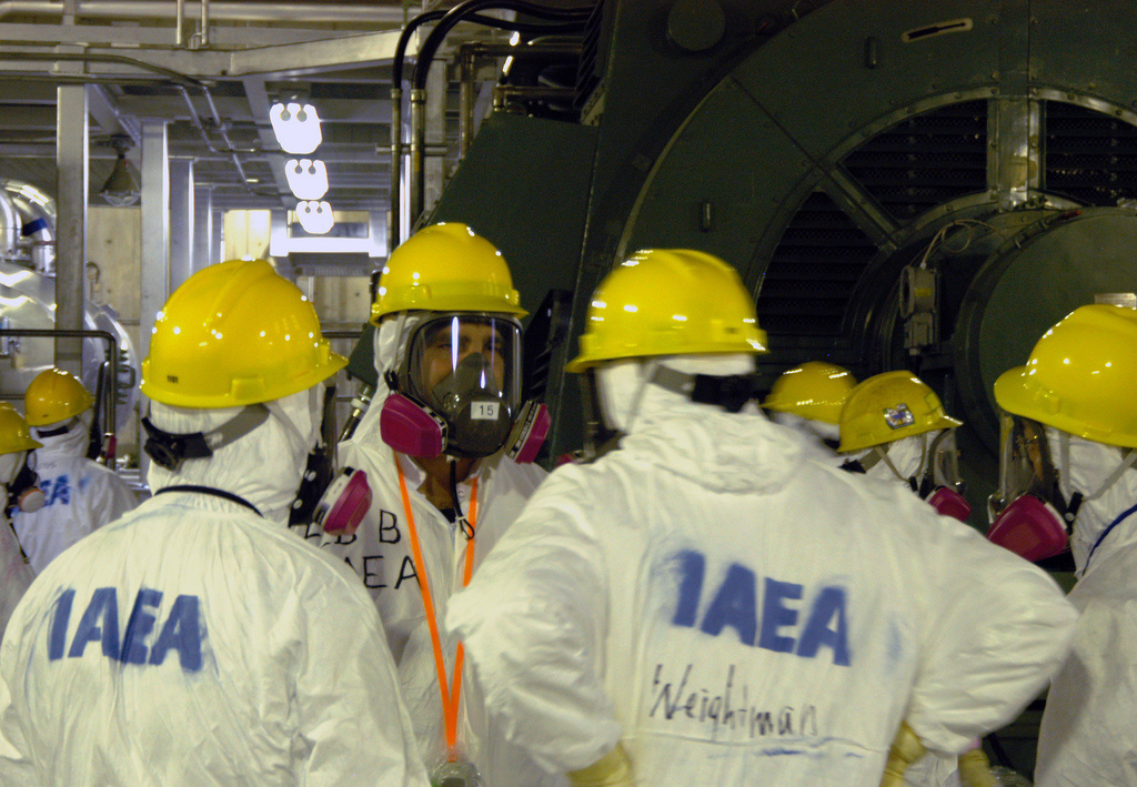 Members of the IAEA fact-finding team at the Fukushima Daiichi Nuclear Power Plant. Flickr / Greg Webb / IAEA