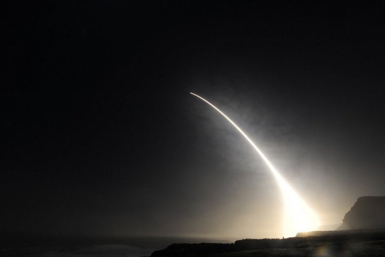 An unarmed Minuteman III intercontinental ballistic missile launches during an operational test at Vandenberg Air Force Base, California. Flickr/U.S. Department of Defense