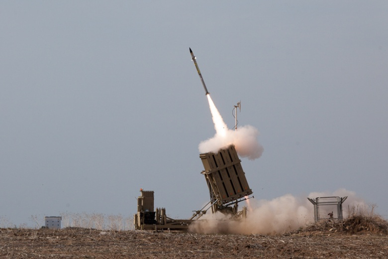 Iron Dome system in Ashdod intercepts a rocket fired from the Gaza Strip. Flickr/Israel Defense Forces