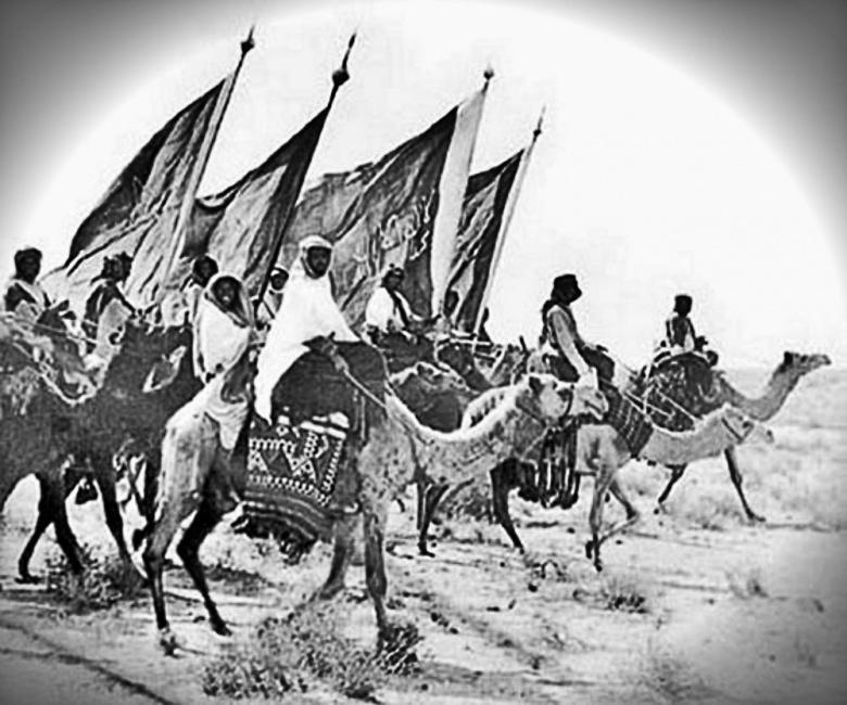Image: Ikhwan in Saudi Arabia. Public domain.