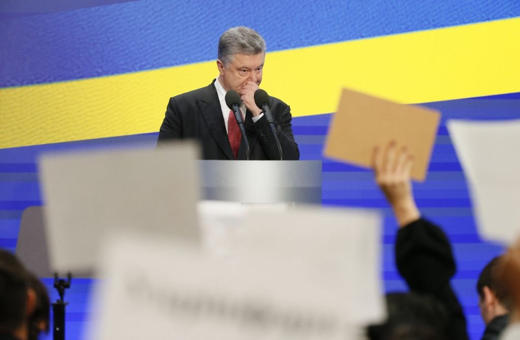 Ukrainian President Petro Poroshenko attends a news conference in Kiev, Ukraine February 28, 2018. REUTERS/Gleb Garanich